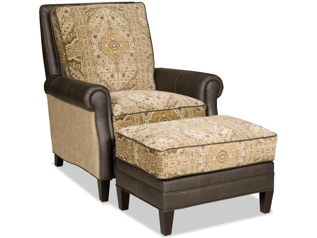 Bradington Young AidenReclining Chair and Ottoman Set
