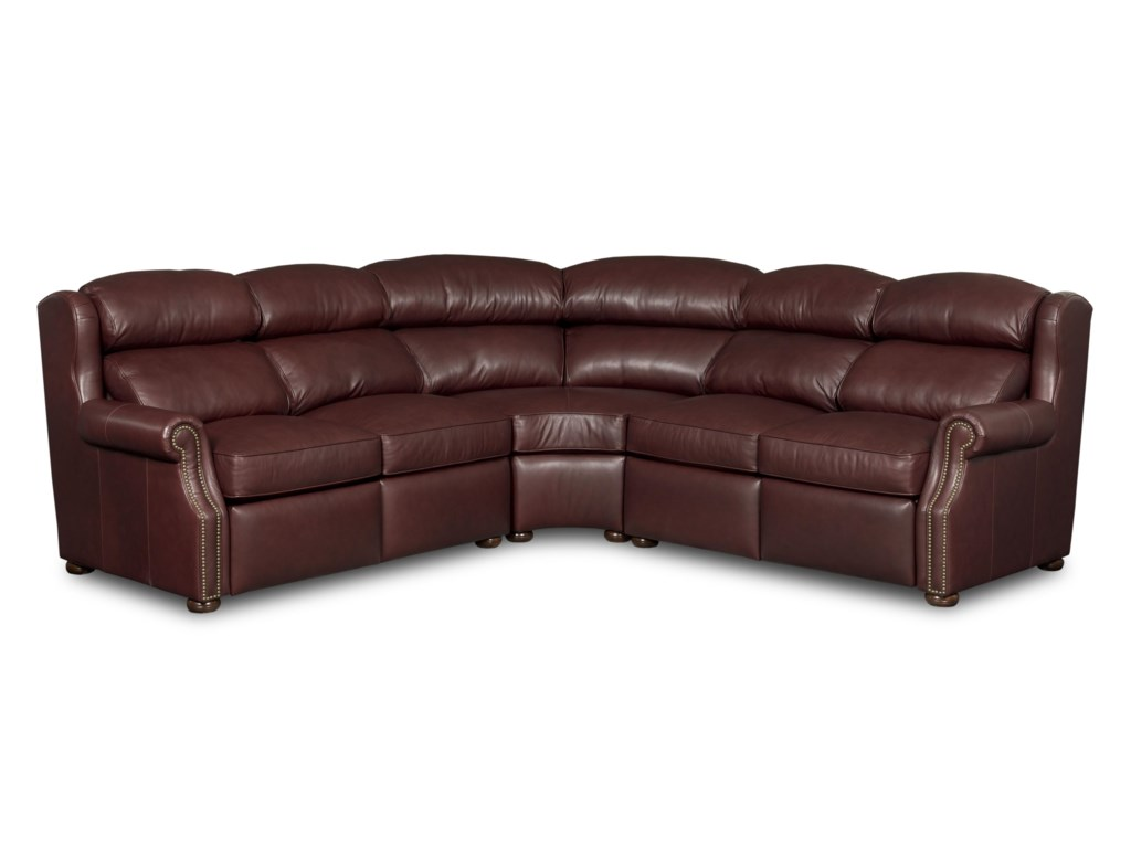 Bradington Young Armando3 Pc Power Reclining Sectional Sofa