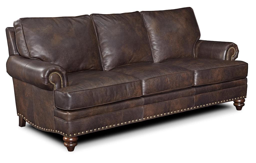 Bradington Young Carrado Traditional 8 Way Tie Sofa With Nailhead