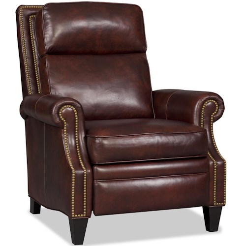 Bradington Young Chairs That Recline Afton Pushback Three Way Recliner with Nailhead Trim