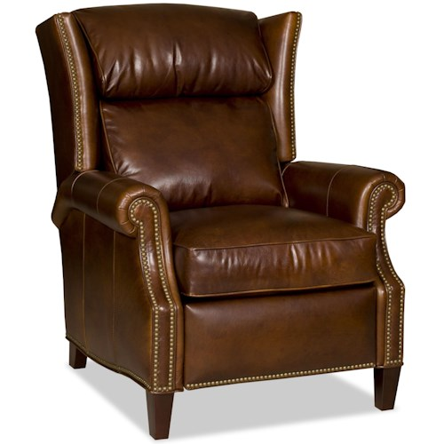 Bradington Young Chairs That Recline Broderick Power Motion Lounger with Nailheads