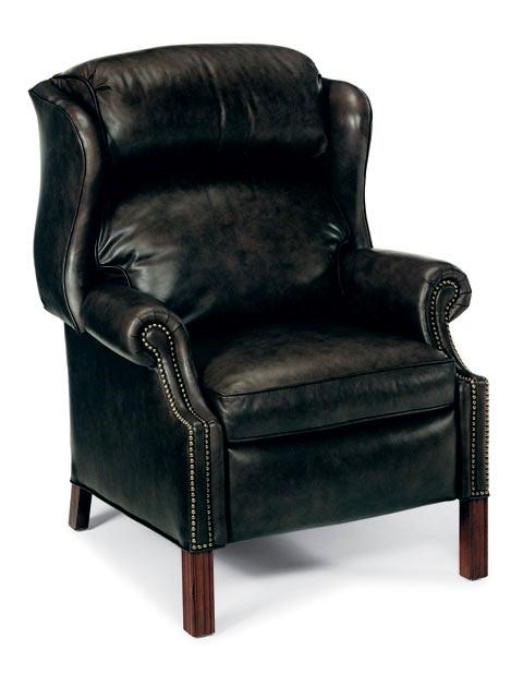 Bradington Young Chairs That Recline Chippendale Reclining Wing Chair With  Brass Nails | Belfort Furniture | High Leg Recliners
