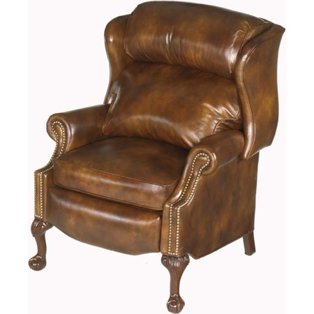 Ball & Claw Reclining Wing Chair
