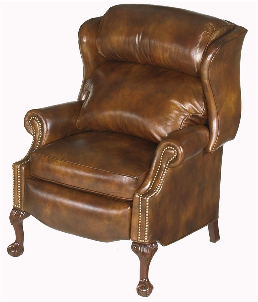 Bradington Young Chairs That Recline Ball U0026 Claw Power Reclining Wing Chair  With Brass Nails