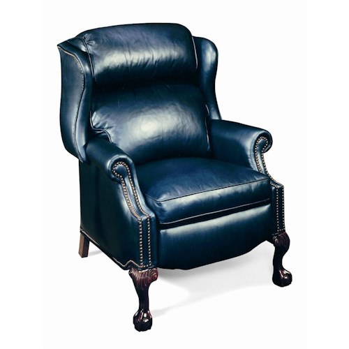 Bradington Young Chairs That Recline Presidential Reclining Wing Chair with Brass Nails