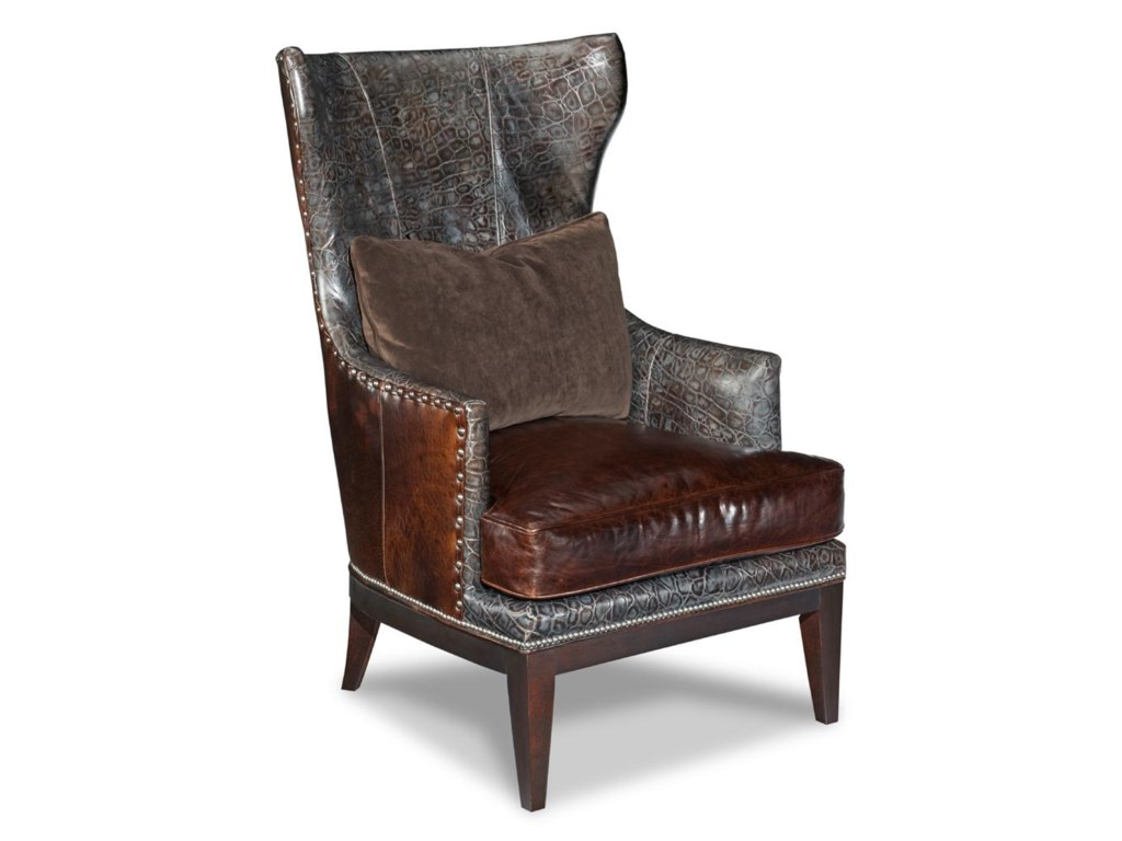 Bradington Young Club ChairsContemporary Wing Chair
