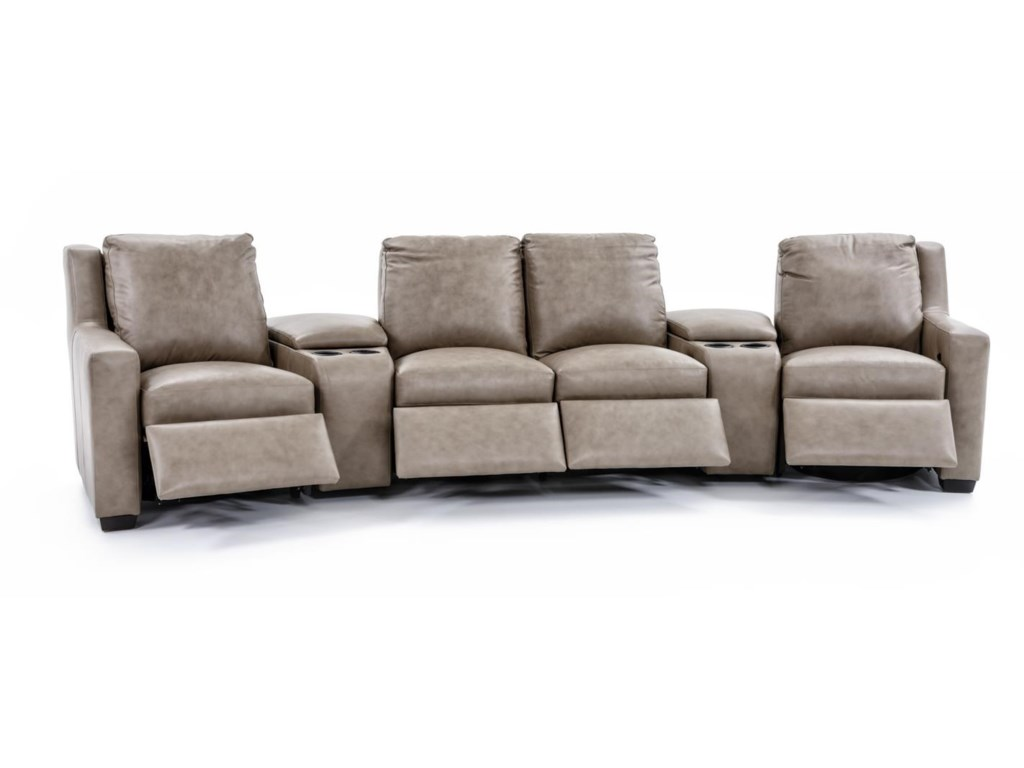 Bradington Young Connery3 Pc Power Reclining Sectional Sofa
