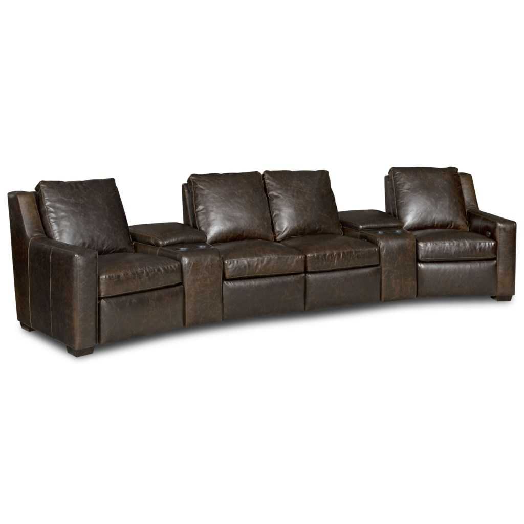 Bradington Young Connery Three Piece Power Reclining Sectional  ~ Fabric Sectional Sofa With Power Recliner