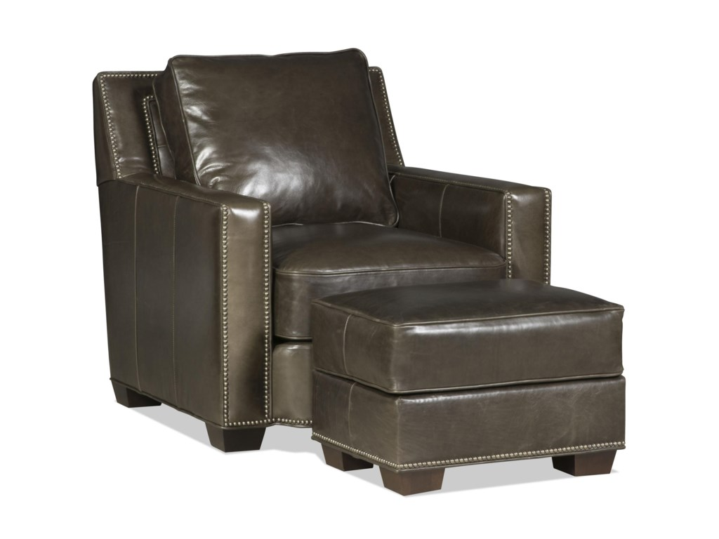 Bradington Young Cooper Chair and Ottoman