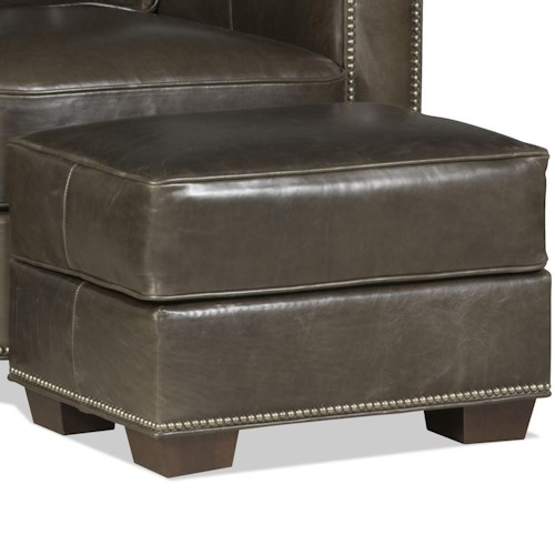 Bradington Young Cooper  Ottoman with Nailhead Trim