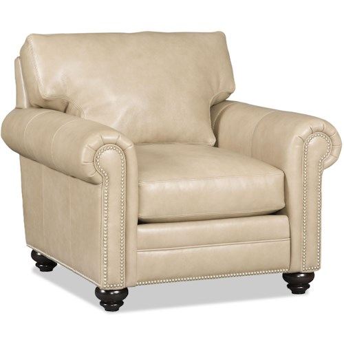 Bradington Young Daire Customizable Chair with Rolled Panel Arms