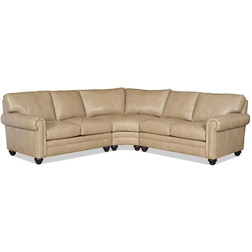 Bradington Young Daire Three Piece Customizable Sectional Sofa