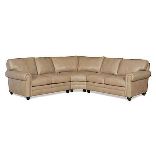 Bradington Young So You Three Piece Customizable Sectional Sofa