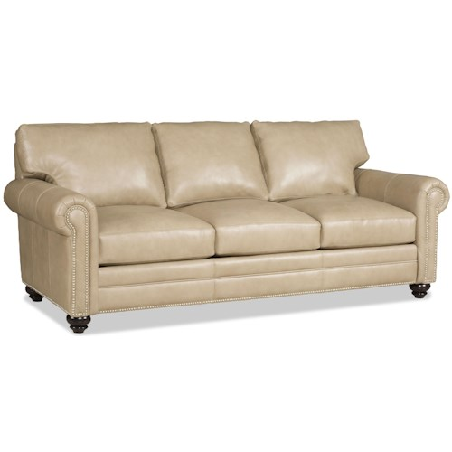 Bradington Young Daire Customizable Sofa with Rolled Panel Arms