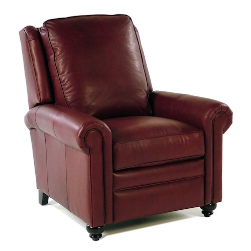 Bradington Young So You Customizable High Leg Recliner with Rolled Panel Arms