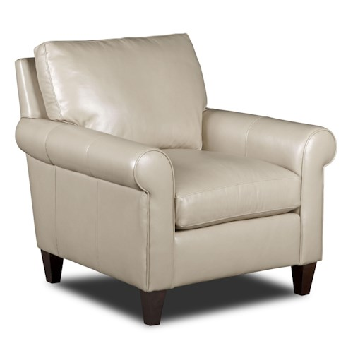 Bradington Young Danica Transitional Chair with Rolled Arms
