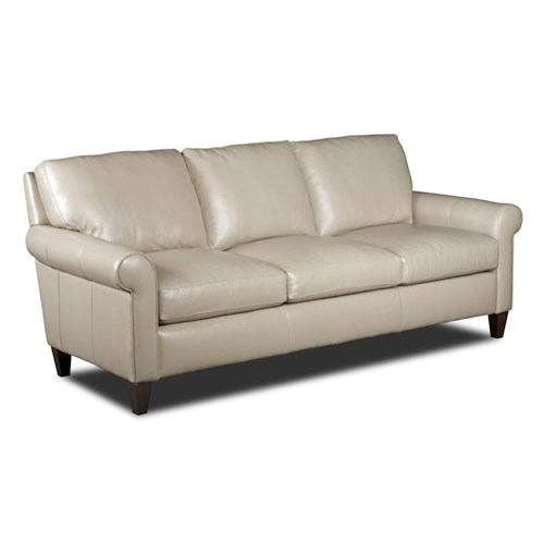 Bradington Young Danica Transitional Sofa with Rolled Arms
