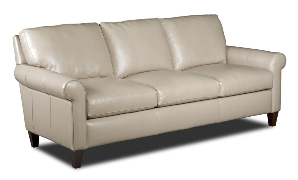Bradington Young Danica Transitional Sofa With Rolled Arms  ~ What Is A Transitional Sofa