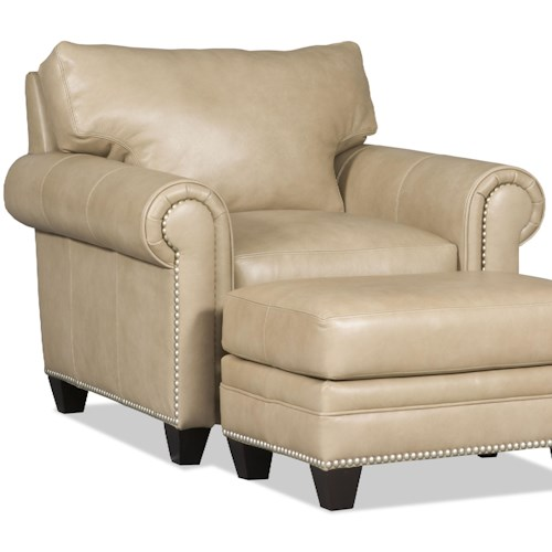 Bradington Young Daylen Customizable Chair with Rolled Panel Arms