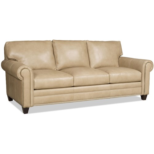 Bradington Young Daylen Customizable Sofa with Rolled Panel Arms