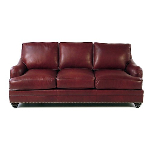 Bradington Young So You Traditional Sofa with English Arms and Turned Legs