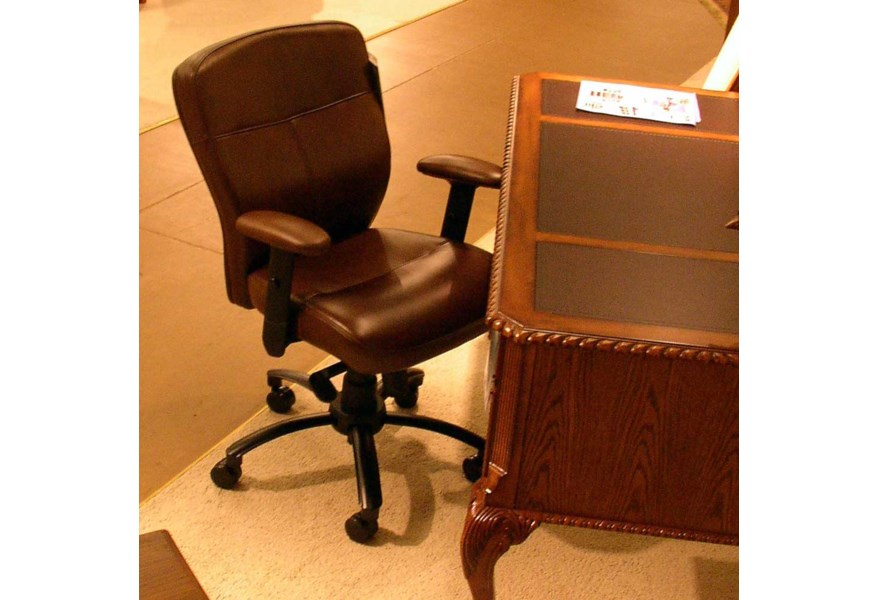 Hooker Furniture Seven Seas Adjustable Height Leather Executive Chair Fisher Home Furnishings Executive Desk Chair