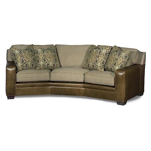 Bradington Young Stationary Seating Hanley Stationary Angled 8-Way Tie Sofa