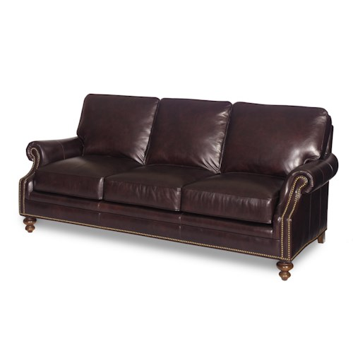 Bradington Young Stationary Seating West Haven 8-Way Tie Stationary Sofa