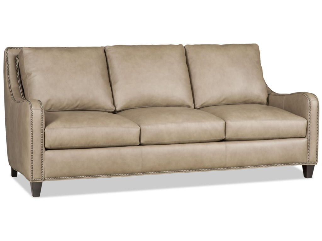 Bradington Young Greco Transitional Sofa With Curved Track