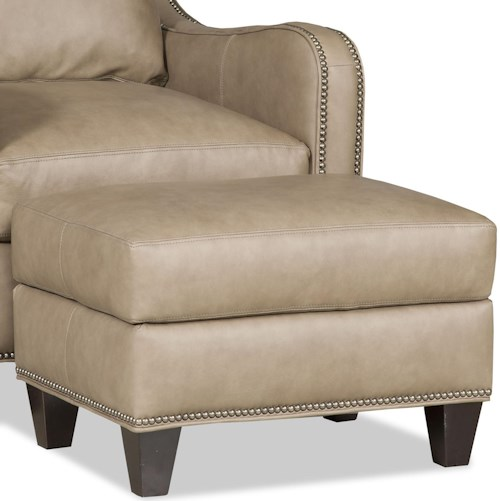 Bradington Young Greco Transitional Ottoman with Nailheads