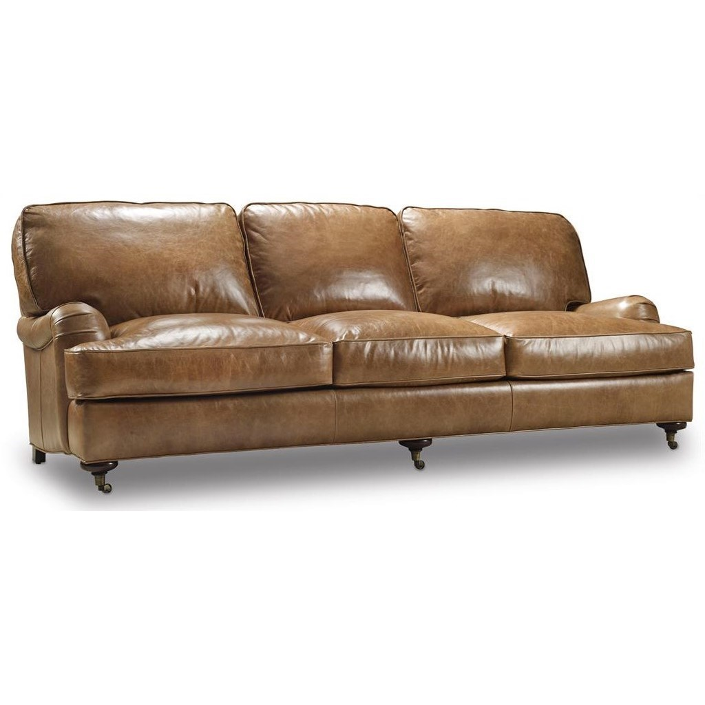 Bradington Young Hamrick Traditional Sofa With English Arms And Casters Good Looking