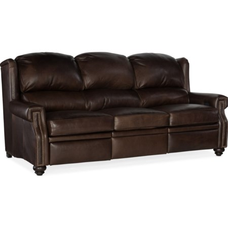 Motion Sofa with Power Headrests and Extende