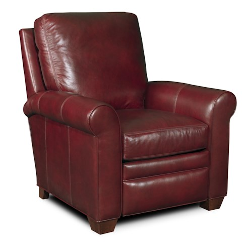 Bradington Young Landry Transitional 3-Way Lounger Reclining Chair with Rolled Arms