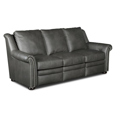 Bradington Young Newman Transitional Power Reclining Sofa with Nailheads