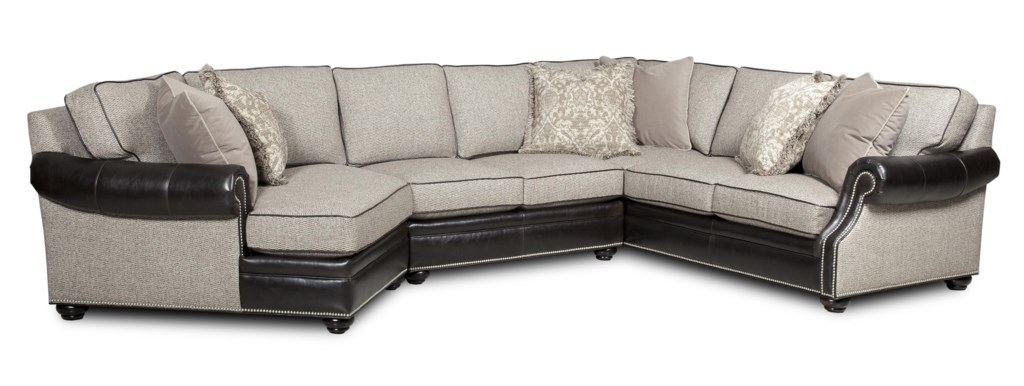 Bradington Young Warner Three Piece Sectional Sofa With Laf  ~ Sectional Sofa With Cuddler
