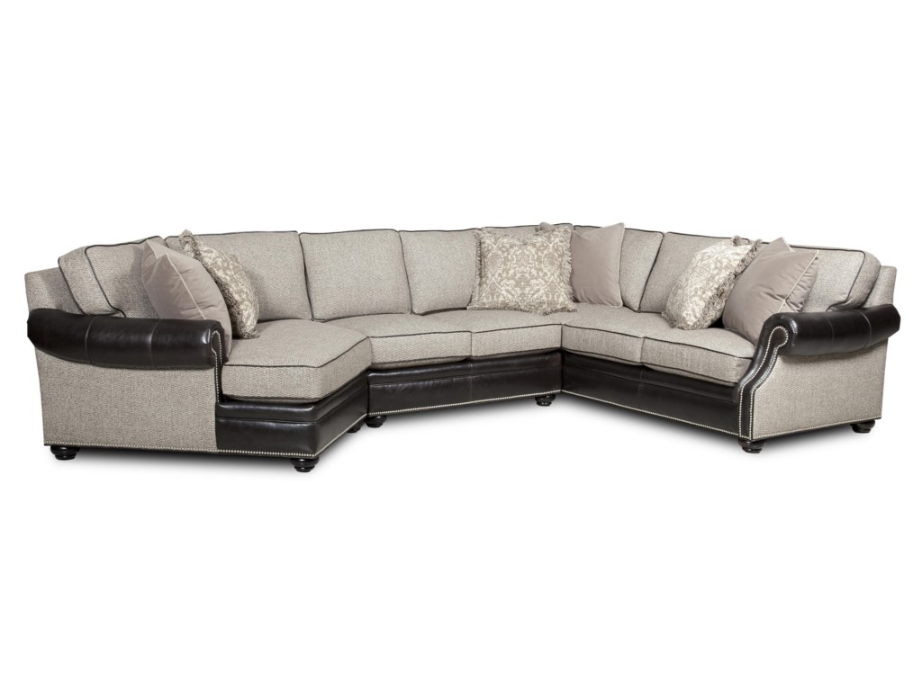 Bradington Young Warner 3 Pc Sectional Sofa w/ LAF Cuddler