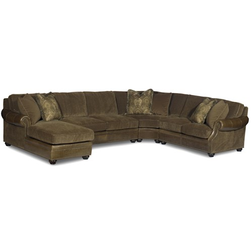 Bradington Young Warner  Sectional Air Dream Sleeper Sofa with Left-Side Chaise