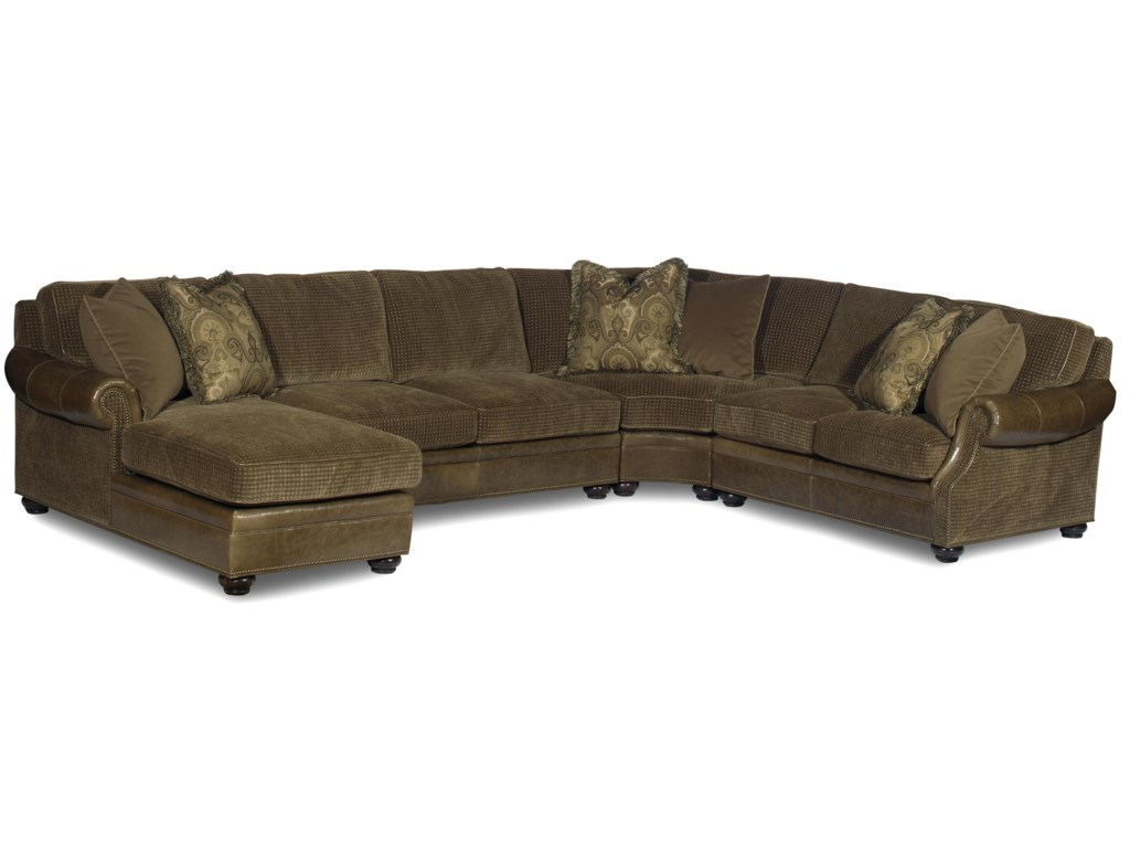 Bradington Young Warner Sectional Standard Sleeper Sofa