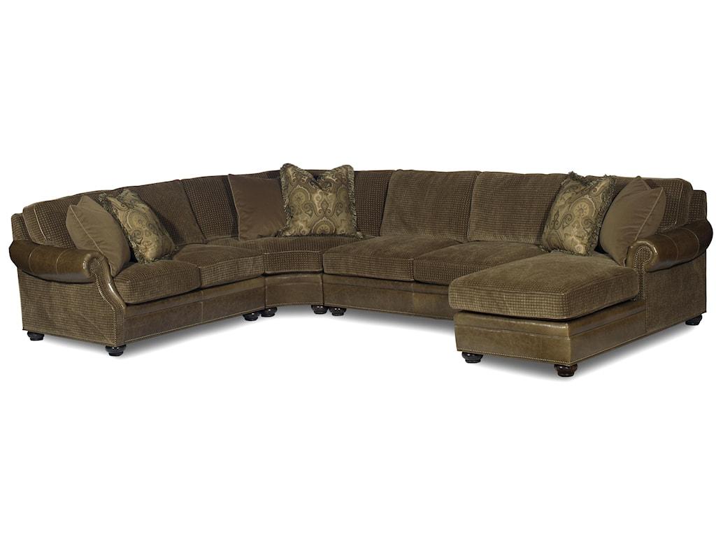 Bradington Young Warner Sectional Standard Sleeper Sofa