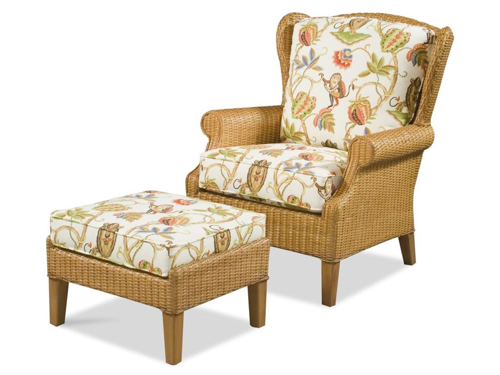 Vendor 10 1079Chair & Ottoman