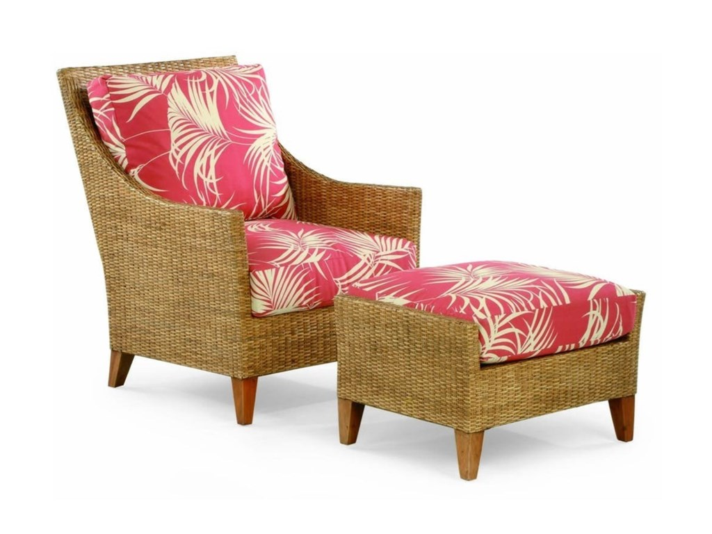 Braxton Culler 1965Wicker and Rattan Chair and Ottoman Set