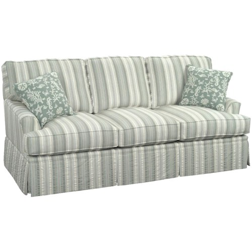 Braxton Culler 678 Casual Westport Sofa with Traditional Kick Skirt