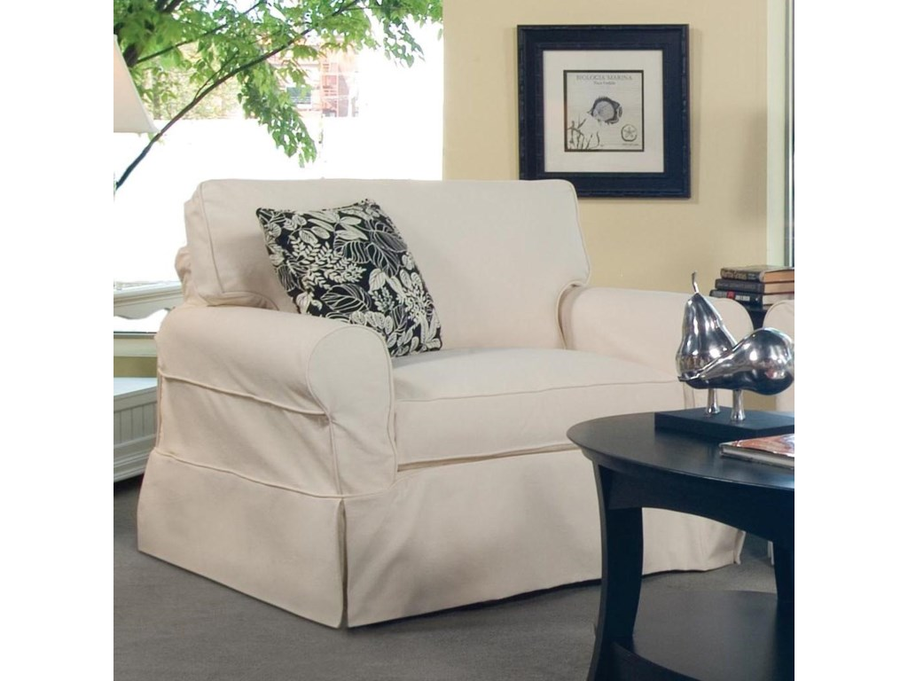 Vendor 10 728Casual Upholstered Slipcover Chair