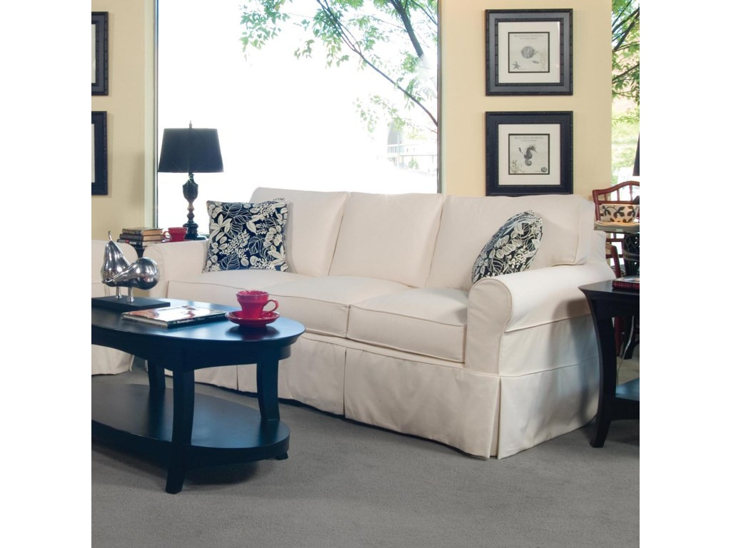 Braxton Culler 7283-Seater Stationary Sofa with Slipcover