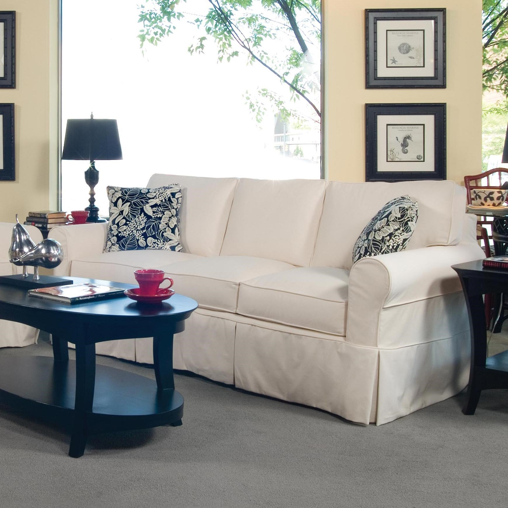 Braxton Culler 728 Casual Three Seater Sofa With Rolled Arms And Slipcover