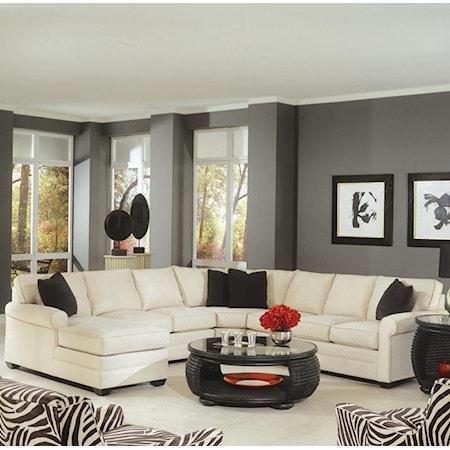 4 Piece Sectional with Sofa Sleeper