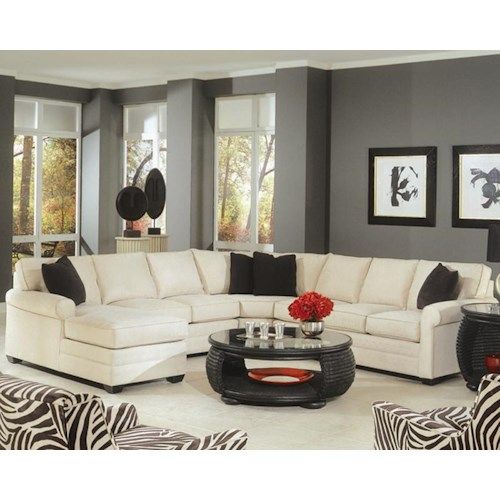 Braxton Culler 728 4 Piece Sectional with a Chaise and Sofa Sleeper
