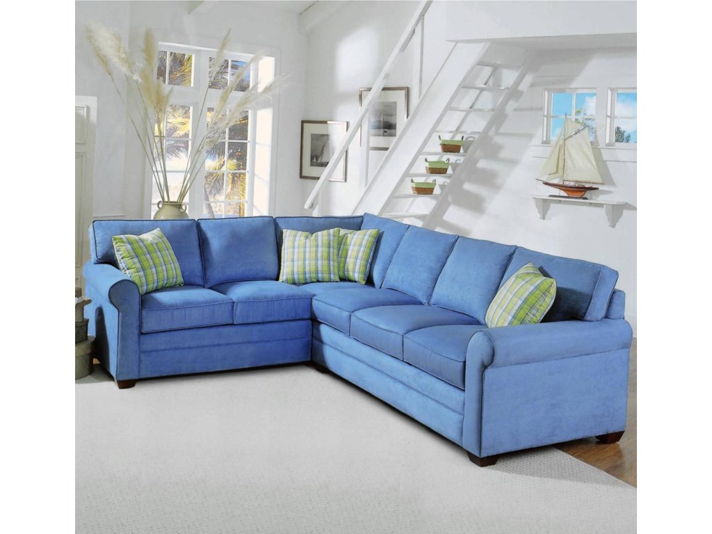Vendor 10 7282 Piece Sectional with Sleeper Sofa