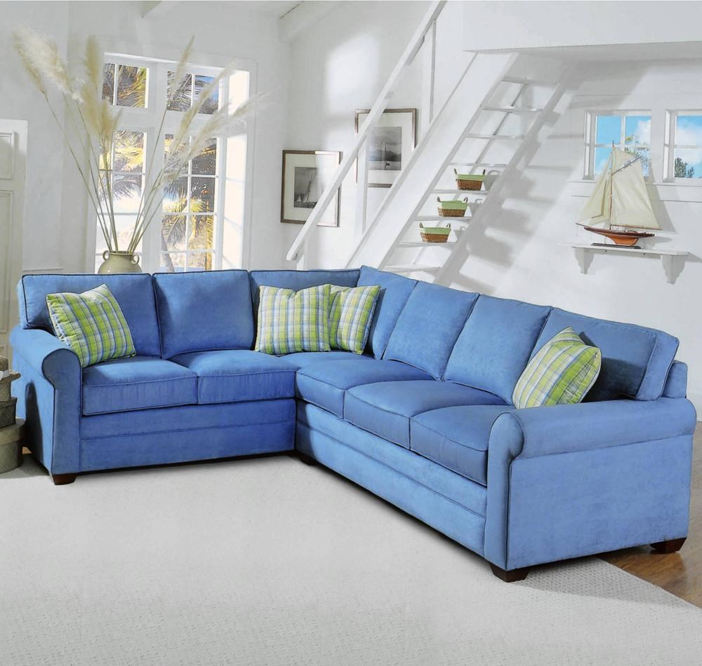 Gentil Braxton Culler 728 2 Piece Upholstered Sectional With Sleeper Sofa