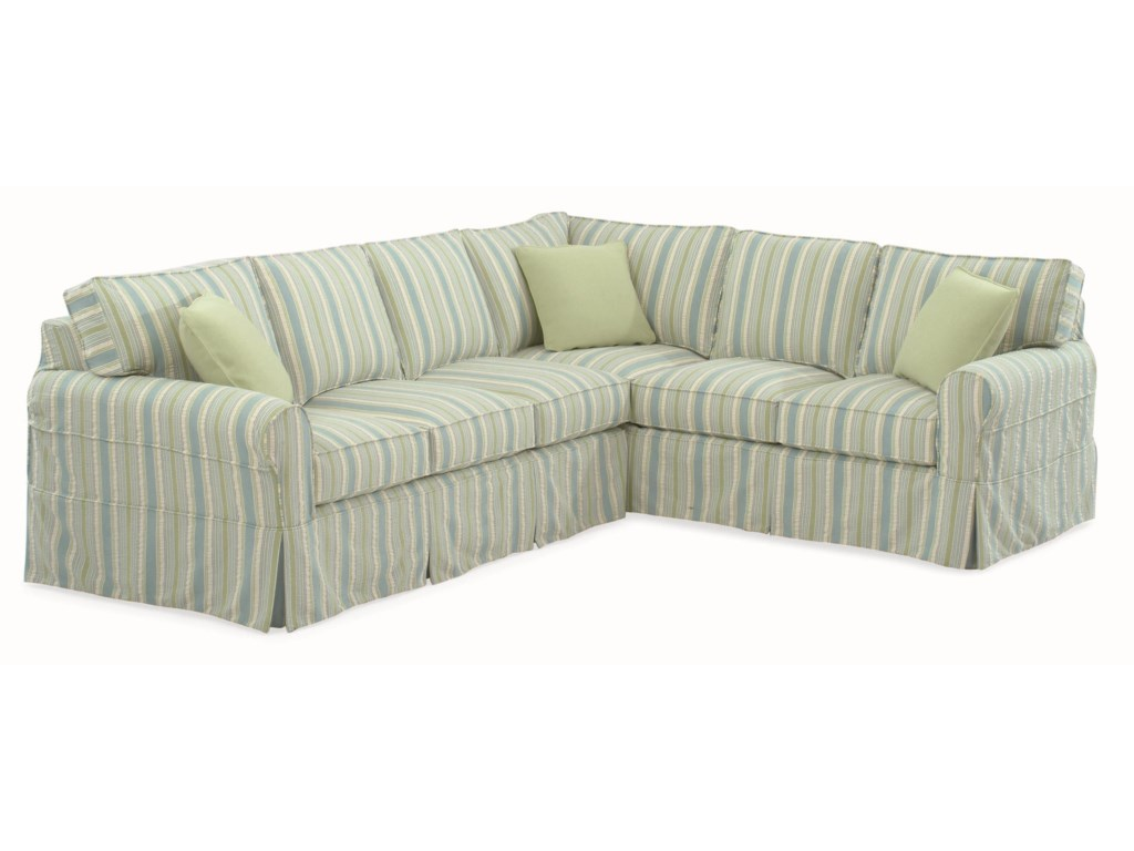 Braxton Culler 728Sectional Sofa with Slipcover